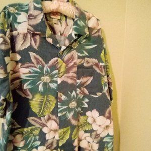 Linguine and Bob Hawaiian Aloha Shirt Men's Size L